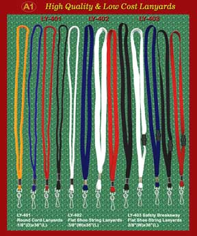 Lanyards Main-4: The Plain Simple,Basic,Cheap, and safety Badge Lanyard with Low cost and Great