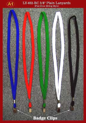 Low-Cost and High-Quality Plain Lanyards - with Badge Clips